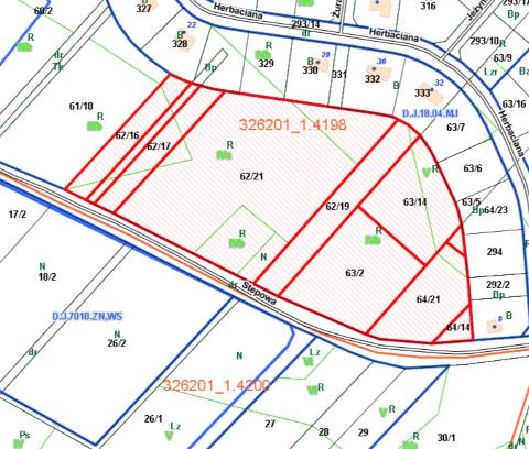Nieruchomości gruntowe niezabudowane przy ul. Stepowej z przeznaczeniem na rekreację, sport i zieleń