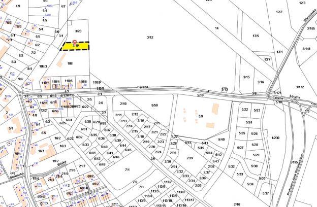 Nieruchomość gruntowa niezabudowana położona przy ul. Łącznej – działka nr 3/19 z obr. 3051