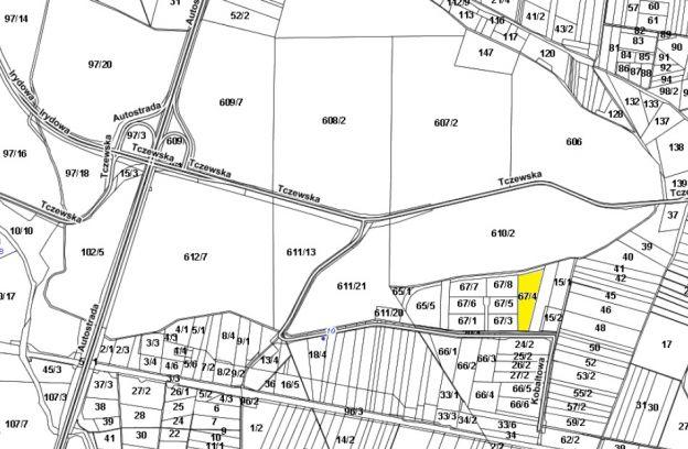 Nieruchomość gruntowa położona przy ul. Wolframowej – dz. nr 67/4 z obrębu 4014.