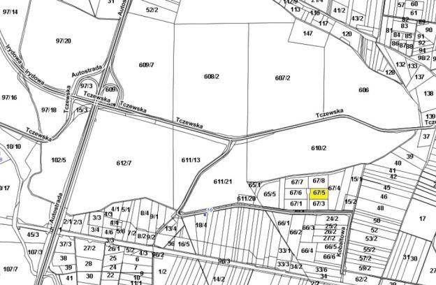 Nieruchomość gruntowa położona przy ul. Wolframowej – dz. nr 67/5 z obrębu 4014.