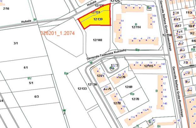Nieruchomość gruntowa niezabudowana położona przy ulicy Hubala – działki nr 12/131 i 12/139, obr. 2074