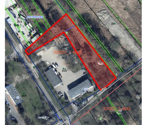 Nieruchomość gruntowa niezabudowana przy ul. Łozowej, dz. 55 obręb 4019