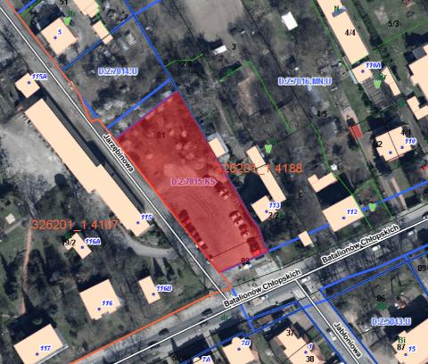 Nieruchomość gruntowa niezabudowana przy ul. Jarzębinowej z przeznaczeniem na parking dla samochodów osobowych