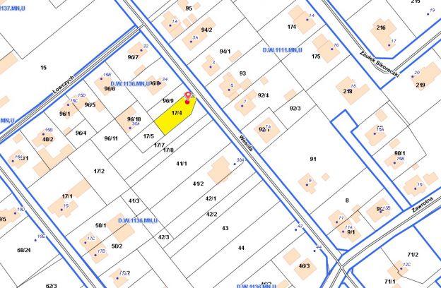 Nieruchomość położona przy ulicy Wesołej 36