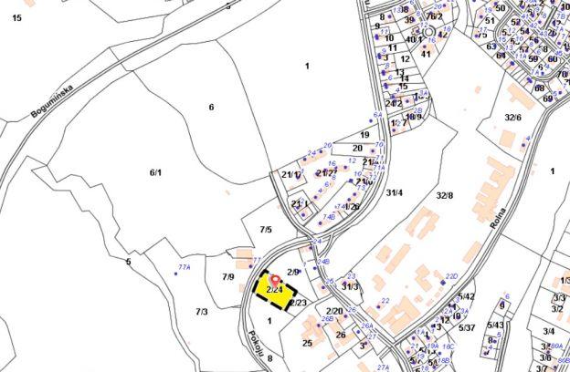 Nieruchomość gruntowa położona przy ulicy Pokoju – działka nr 2/24 z obr. 3091