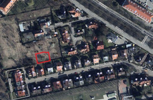 Nieruchomość gruntowa położona przy ulicy Starego Wiarusa – działka nr 64/27 z obr. 2057