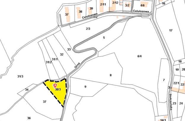 Nieruchomość gruntowa położona przy ulicy Ornej – działka nr 38/3 z obr. 3048