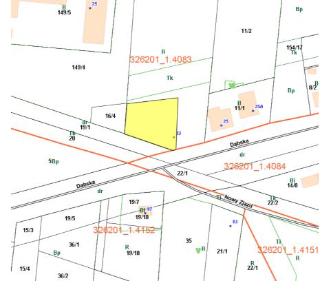 Nieruchomość gruntowa niezabudowana przy ul. Dąbskiej, działka nr 154/2 obręb 4083