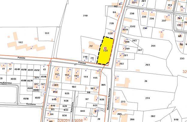 Nieruchomość gruntowa położona w Szczecinie przy ul. Nehringa – dz. nr ewid. 7/23 z obr. 3054