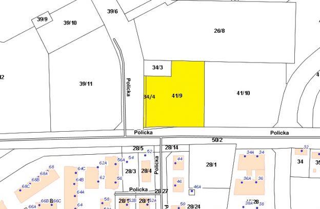 Nieruchomość gruntowa położona w Szczecinie przy ulicy Polickiej – działki nr ewid. 41/9 i 34/4 z obr. 3203